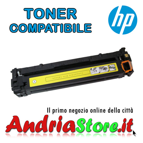 CB542A Toner compatibile 125A HP Laserjet Color Giallo 1400 copi