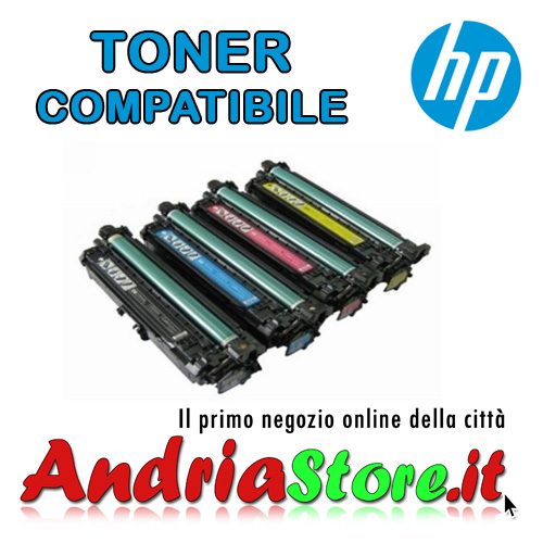 CE272A Toner compatibile Giallo 650A HP LaserJet, 15000 copie