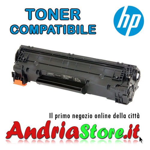 CF283A Toner compatibile 83A per HP, 1500 copie